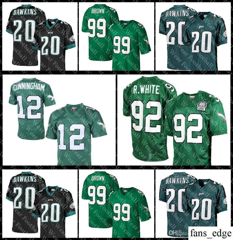 best website b8b58 e3431 Philadelphia Jersey 7 Ron Jaworski 12 Randall Cunningham 17 Harold  Carmichael Eagles 59 Seth Joyner 92 Reggie White football jerseys