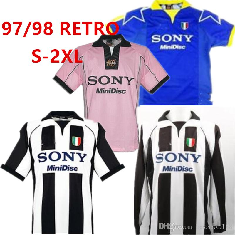 cheap for discount 1a15a 5cd59 1997 Juventus ZIDANE RETRO SOCCER JERSEYS DEL PIERO 97 98 JERSEY INZAGHI  Deschamps FOOTBALL SHIRTS 120th anniversary Long sleeve 95 96 third