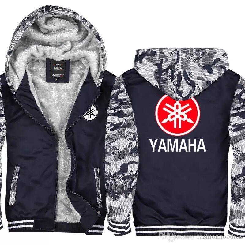 2019 US EU Size New Winter YAMAHA MOTOR Logo Hoodies Camouflage Jacket Cardigan Coat Thick Zipper Men Casual Jacket Sweatshirt From Fashionhoodies, ...