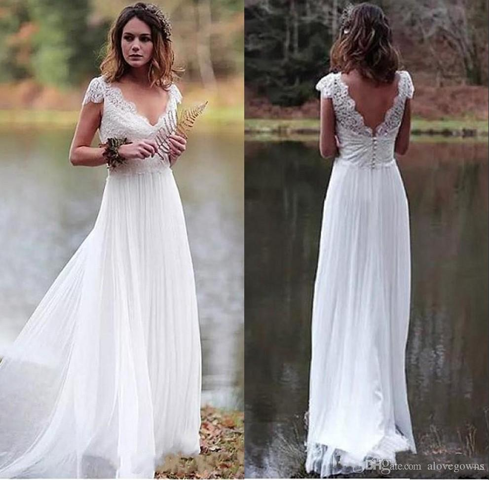 Affordable Wedding Gowns Online: Discount Vestido De Noiva 2019 Backless Country Style