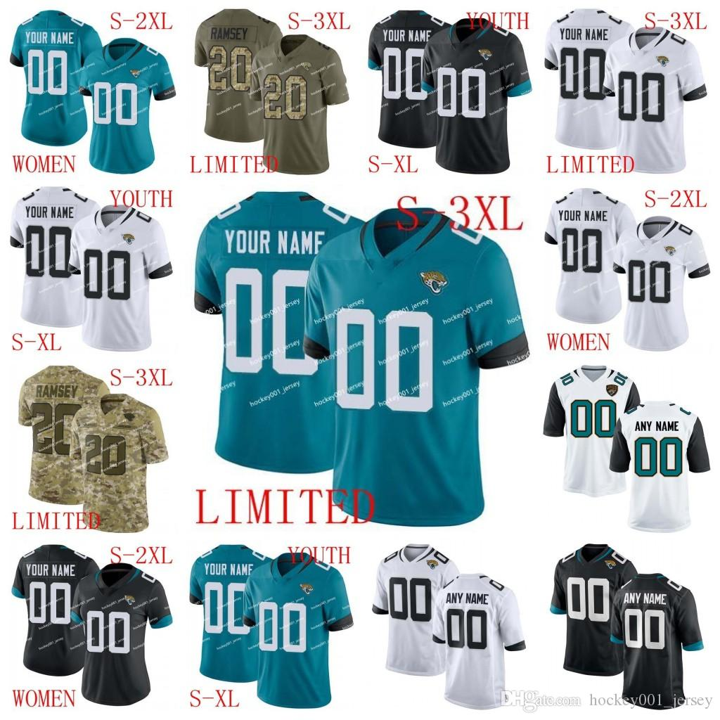 the latest 574bd 23f59 Custom Men Women Youth Jacksonville Jalen Ramsey Jersey Jaguars Leonard  Fournette Nick Foles Telvin Smith Yannick Ngakoue A.J. Bouye footb05