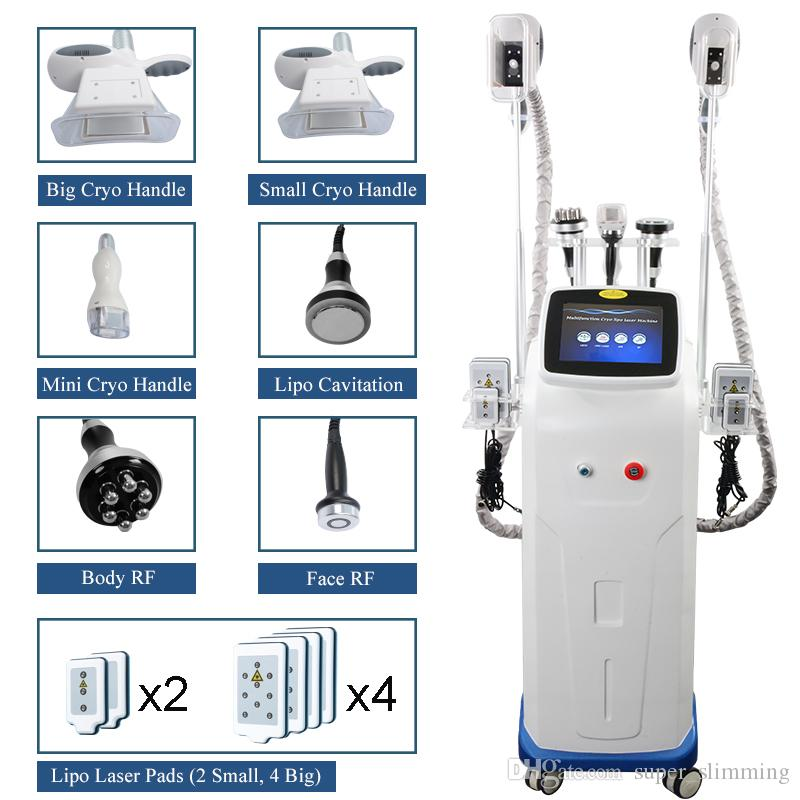 FDA Approved Cryolipolysis Body Slimming Fat Freeze Machine Cool Shaping Vacuum Liposuction Ultrasonic Cavitation RF Lipo Laser Equipment