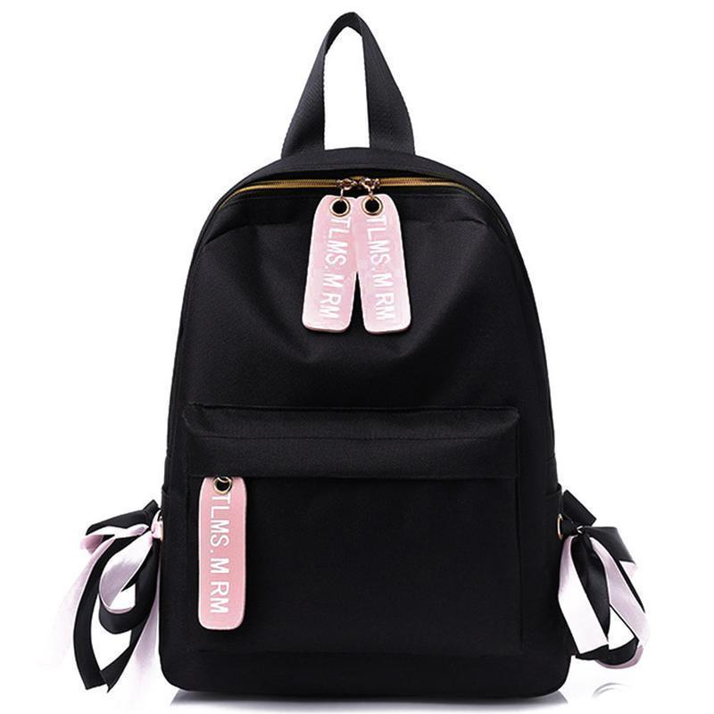 a15ba6c356 Backpack Female Korean Fashion Bag Student Backpacks Junior High School  College Canvas Bags For Teenager Girls Women Small Pack Womens Backpacks  Pink ...