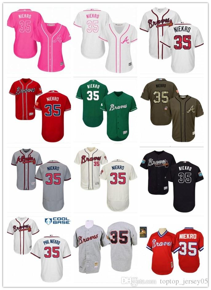 purchase cheap 441d7 07419 2018 top Atlanta Braves Jerseys #35 Phil Niekro Jerseys men#WOMEN#YOUTH#Men  s Baseball Jersey Majestic Stitched Professional sportswear
