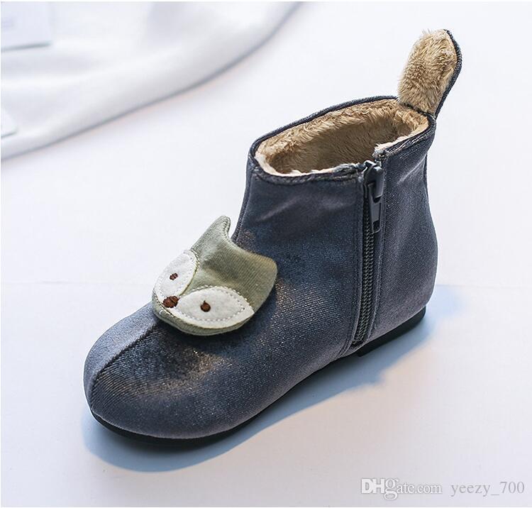 493fdedc1940d Acheter Bottes Chaudes D hiver De Haute Qualité Chaussures Fille Garçon  Garçon De  97.47 Du Yeezy 700