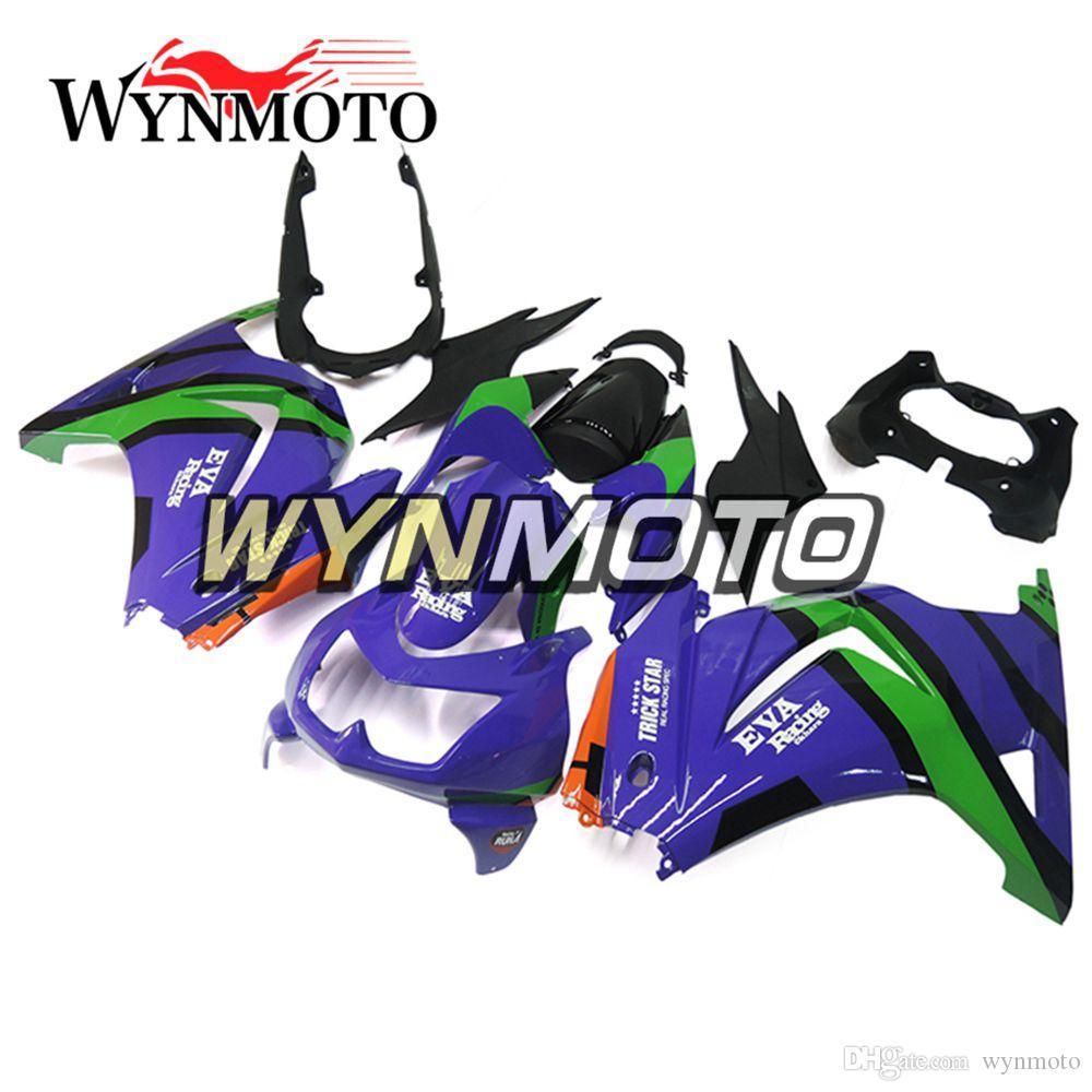 Motorcycle Full Fairing Kit For Kawasaki EX250R Ninja 250 2008 2009 2010  2011 2012 NINJA 250 ABS Injection Bodywork Purple Green Covers