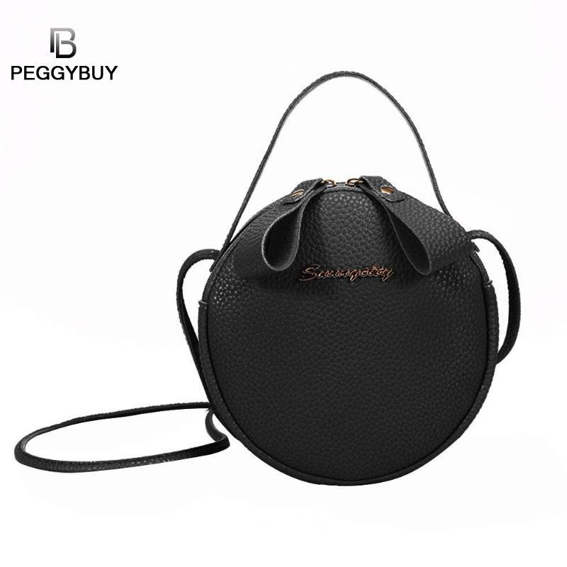 Solid Color Chain Shoulder Messenger Bag For Women Handbags Circle Female Crossbody Casual Pu Leather Small Satchel Bags Bolso Elegant And Sturdy Package Luggage & Bags