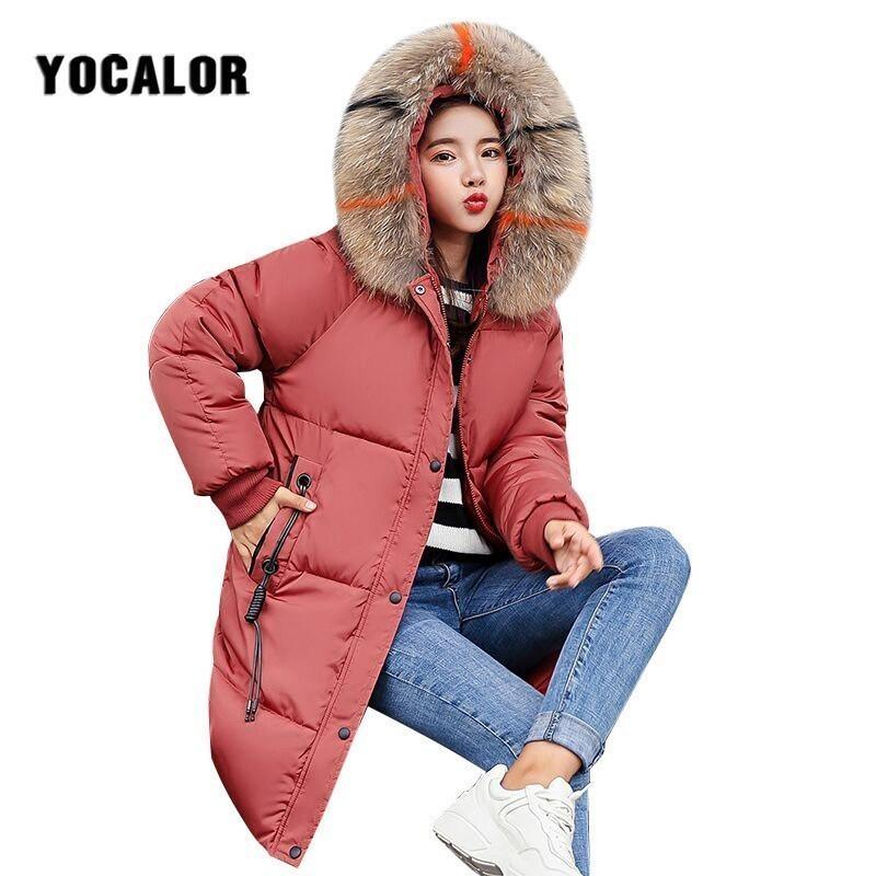 bcd01596dc5 2019 Plus Size Winter Fur Hood Coats Cotton Long Coat Quilted Puffer Jacket  Women Warm Parka Feminina Outerwear Parkas Snow Wear Uk From Aqueen