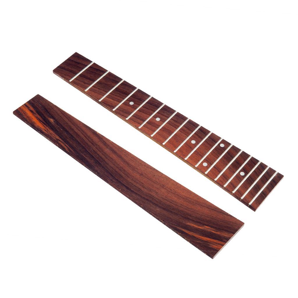 Sports & Entertainment Guitar Parts & Accessories 10pcs Concert Ukulele Fretboard Fingerboard Rosewood Fingerboard Ukulele Diy Part For 23 Ukulele High Quality