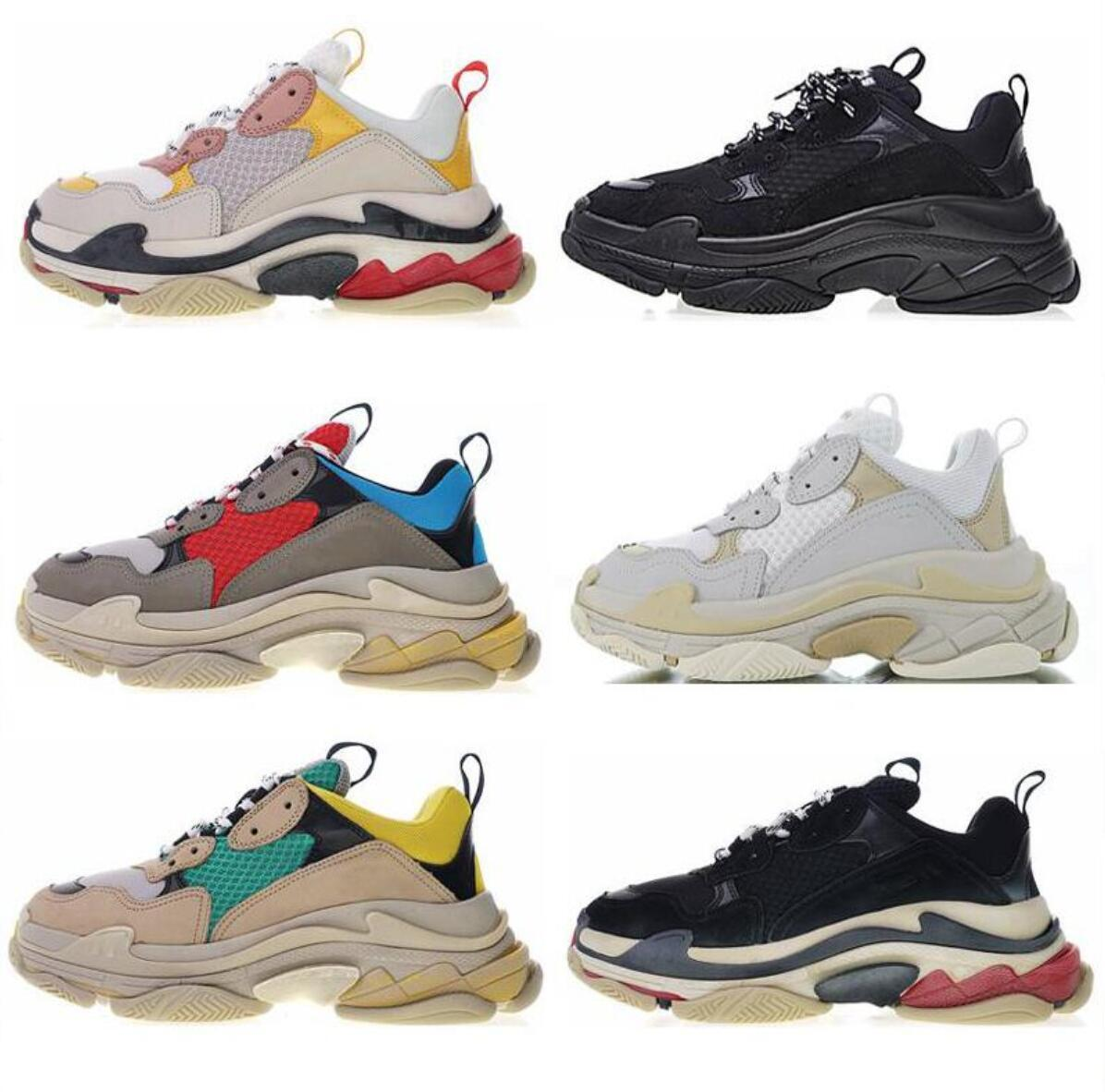 huge selection of 9de3d 9acac 2019 Size 36-45 Sale Hot!!2019 Fashion geox Triple s Men Women Low Lace up  Casual Sport Shoes Outdoor Unisex Zapatillas Sneakers,36-45