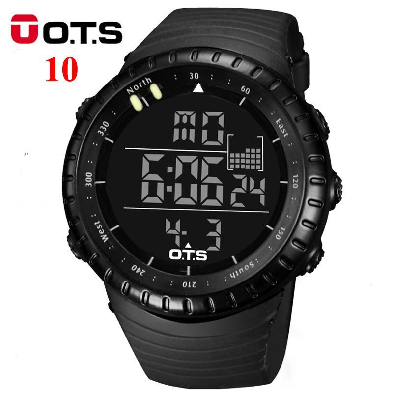 6fce3770b35 Compre OTS Dos Homens Relógio LED Esportes Relógio Digital Relógio 50 M  Homens À Prova D Água Top Marca De Luxo Hora Relógios De Pulso Relogio  Masculino De ...