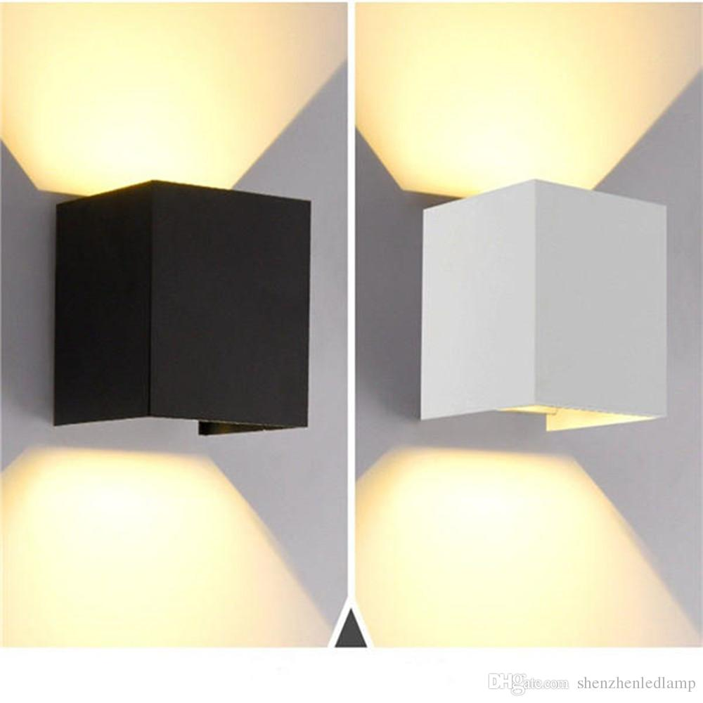 6w 12w cob led wall lamp indoor outdoor simple style aluminum waterproof wall lights for bedroom hallway porch balcony