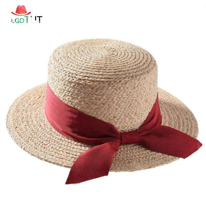 be958201 2019 New Straw Hat Summer Hats For Women Seaside Vacation Beach Hats Women  Sun For Cap Bow Visor Cap Homme Sun Cowgirl Hats Fishing Hats From  Splendone, ...