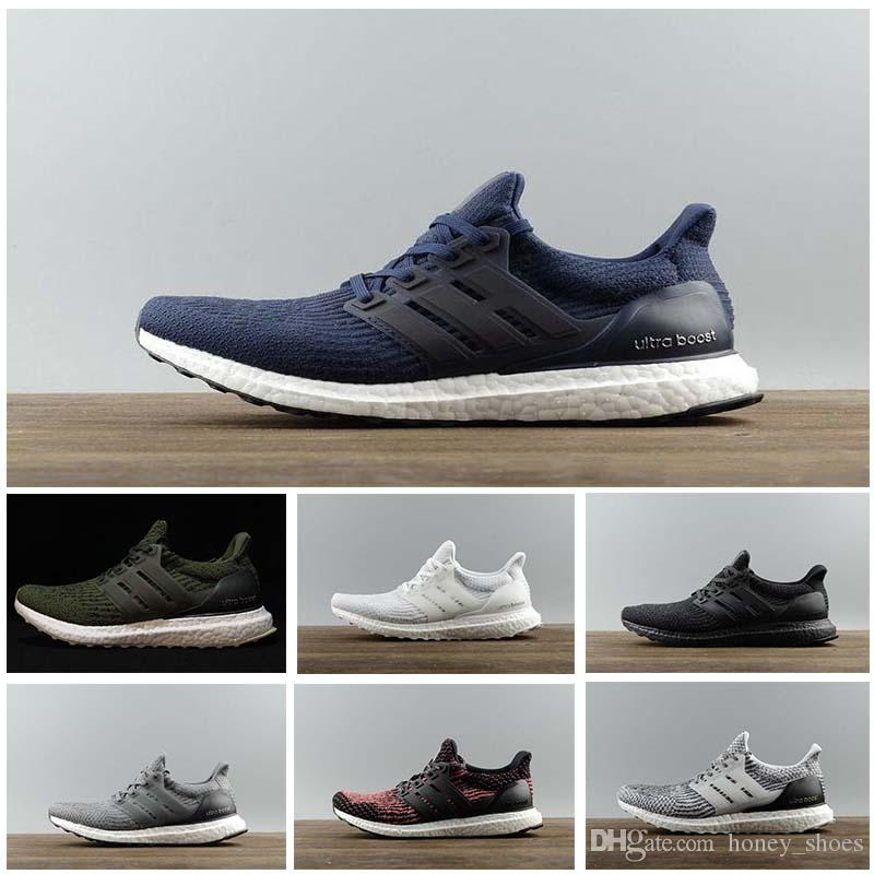 95a6d48b0 2019 Ultra Boost 3.0 4.0 Triple Black And White Primeknit Oreo CNY Blue  Grey Men Women Running Shoes Ultra Boosts Ultraboost Sport Sneakers From  Honey shoes ...