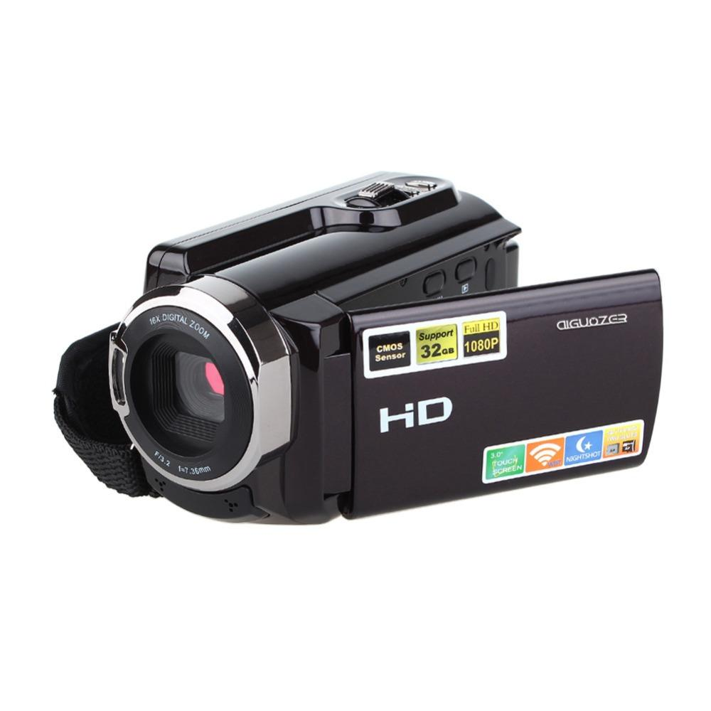 HDV-5053STR Portable Camcorder Full HD 1080p 16x Digital Zoom Digital Video  Camera Recorder DVR with Wifi Max 20MP Touch Screen