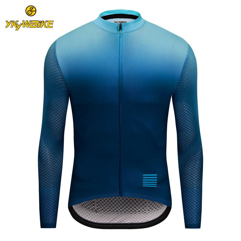 dfdfb76c7b0 YKYWBIKE 2019 Cycling Jersey Men Breathable Long Sleeve MTB Bicycle ...