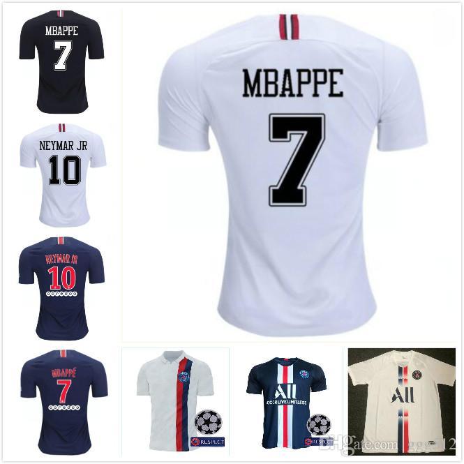size 40 5f7f3 63397 new 19 20 maillot de foot psg soccer jerseys mbappe 2019 2020 champions  league Paris Sg home away cavani DI MARIA survetement football shirt