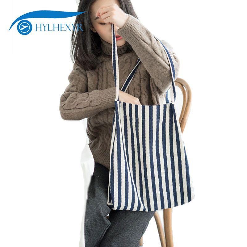 ed17b61033 Acquista Shopping Bag Da Viaggio In Tela Hylhexyr Borse A Spalla A Strisce  Semplici Borsa Da Viaggio In Tessuto Con Patta A Tracolla Borsa A Tracolla  A ...