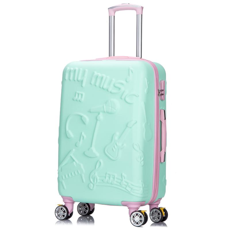 a537e5b70 Women Rolling Luggage Cartoon Trolley Suitcase Female Cute Password Box  20