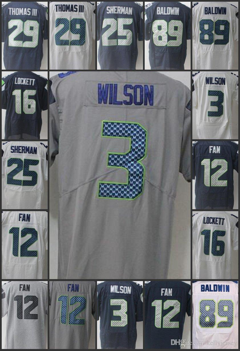 the latest 03c1c 55f83 Men Seattle Limited Seahawks #12 th Fan Women Jersey 3 Russell Wilson 16  Tyler Lockett 29 Earl Thomas Youth Embroidery Jerseys
