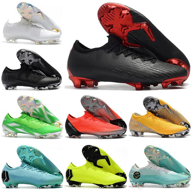 2019 Kids Low Ankle Football Boots Youth CR7 Mercurial Vapors VII Elite FG Soccer  Shoes Men Women Superfly Vapor360 XII Neymar Soccer Cleats Kids White ... 8d38fe0238