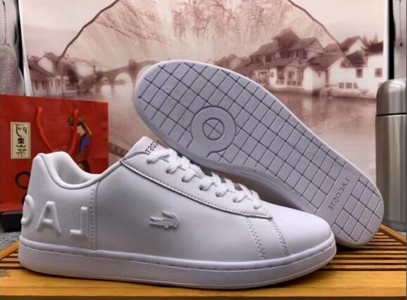separation shoes c7ecd eae87 LACOSTE 2019 männer Sneakers Freizeitschuhe Männer Niedrige Flache Schuhe  Echtes Leder Herren Schuhe Designer Trainer Keine Box