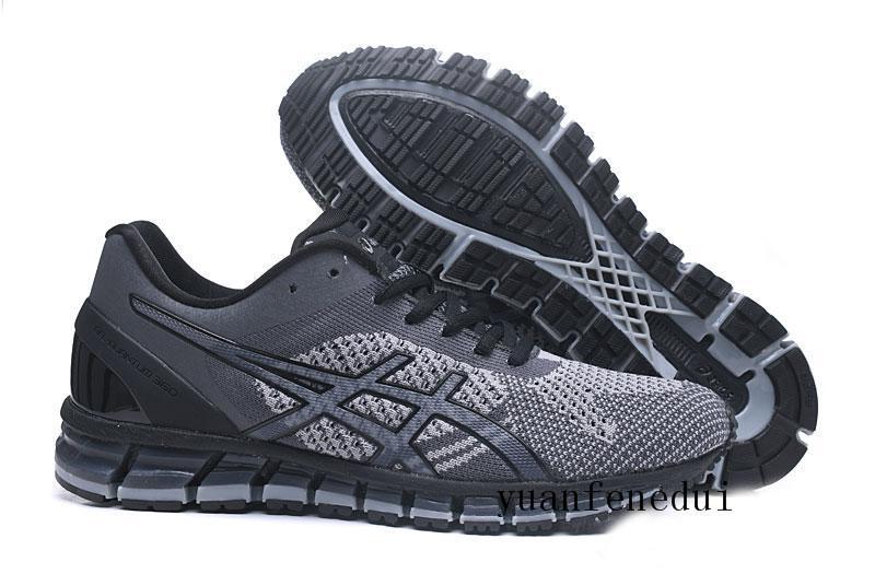 2019 Gel Quantum 360 II Nouveau Design Gris Blanc Noir Mens Coussin Chaussures De Course Original 2 2s Meilleure Qualité Baskets Athlétiques