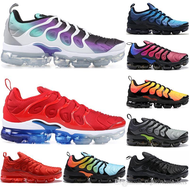 582daaea875a5 Compre TN Plus Rainbow Zapatillas Para Correr Hombres Mujeres Uva Tropical  Sunset Ultra Blanco Negro Juego Royal USA Zapatos De Diseño Carmesí  Brillante ...