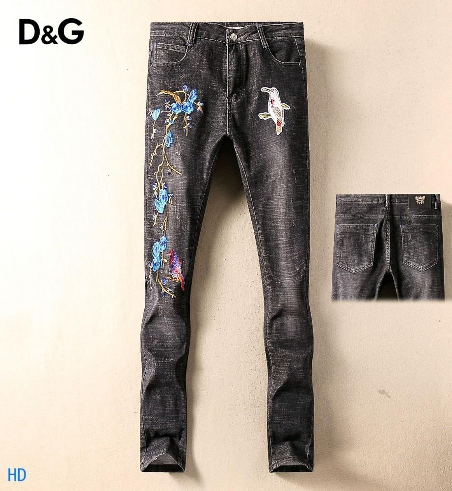2019 New Fashion Design For Men High Quality And Exquisite Korean Edition Jeans Embroidery Slim Casual Small Straight Foot Trousers 23