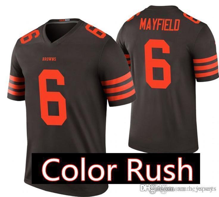 Cleveland Browns 6 Baker Mayfield Jersey Mens 73 Joe Thomas Football
