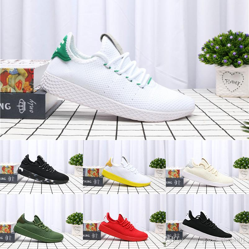 c2d6d50a2ca35 2019 2018 Hot Sale Pharrell Williams X Stan Smith Tennis HU Primeknit Men  Women Shoes Sneaker Breathable Runner Sports Shoes EUR 36 45 From  Good shop001