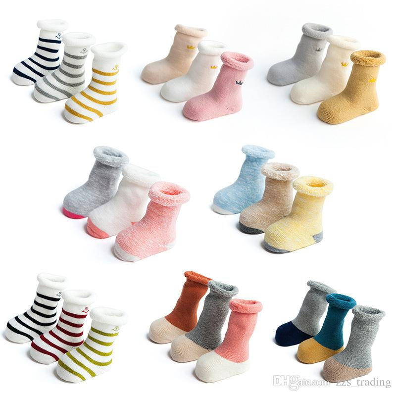 5d0dc208fde  Real Woolen Thick Baby Kids Socks Winter Soft Warm Socks for Children 0-3  Years Boys Girls Thermal Floor Baby Socks Stripe Breathable Thicken  Deodorant ...