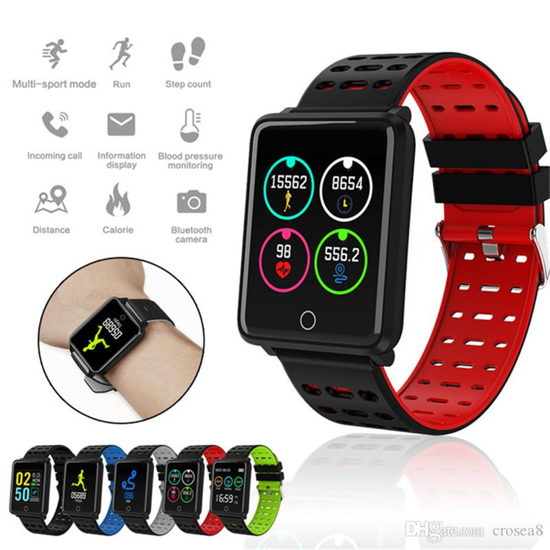 "F3 Smart Watch 1.44"" Color Screen Heart Rate Blood Pressure Monitoring GPS Track Movement IP68 Waterproof Health smartwatch for Android ios"