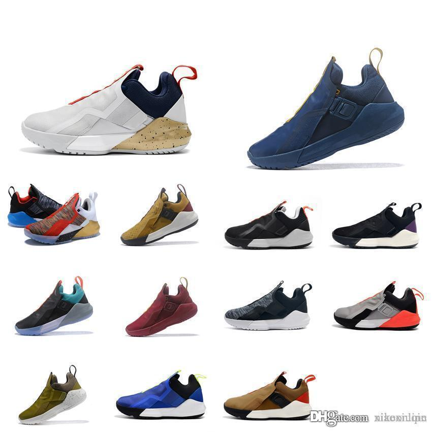 a5ac3469502 2019 Cheap Lebron Ambassador 11 Basketball Shoes For Sale Black White Gold  Blue Agimate Youth Kids Lebrons 16 Sneakers Boots With Box Size 7 12 From  ...
