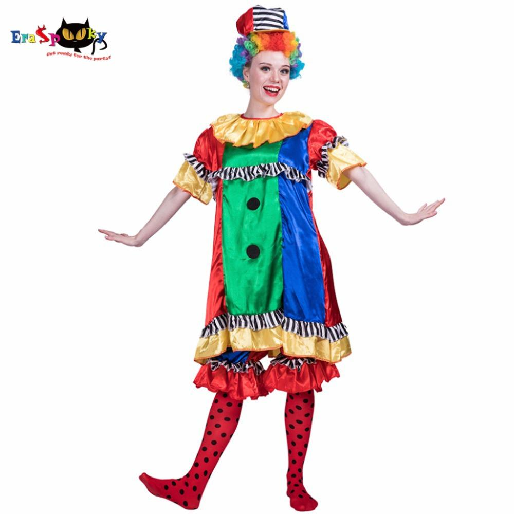 Killer Clown Halloween Costumes For Girls.Fancy Dress Women Sexy Killer Scary Clown Cutie Costume Funny Cosplay Party Fancy Dress For Female Adult Lady Halloween Costumes