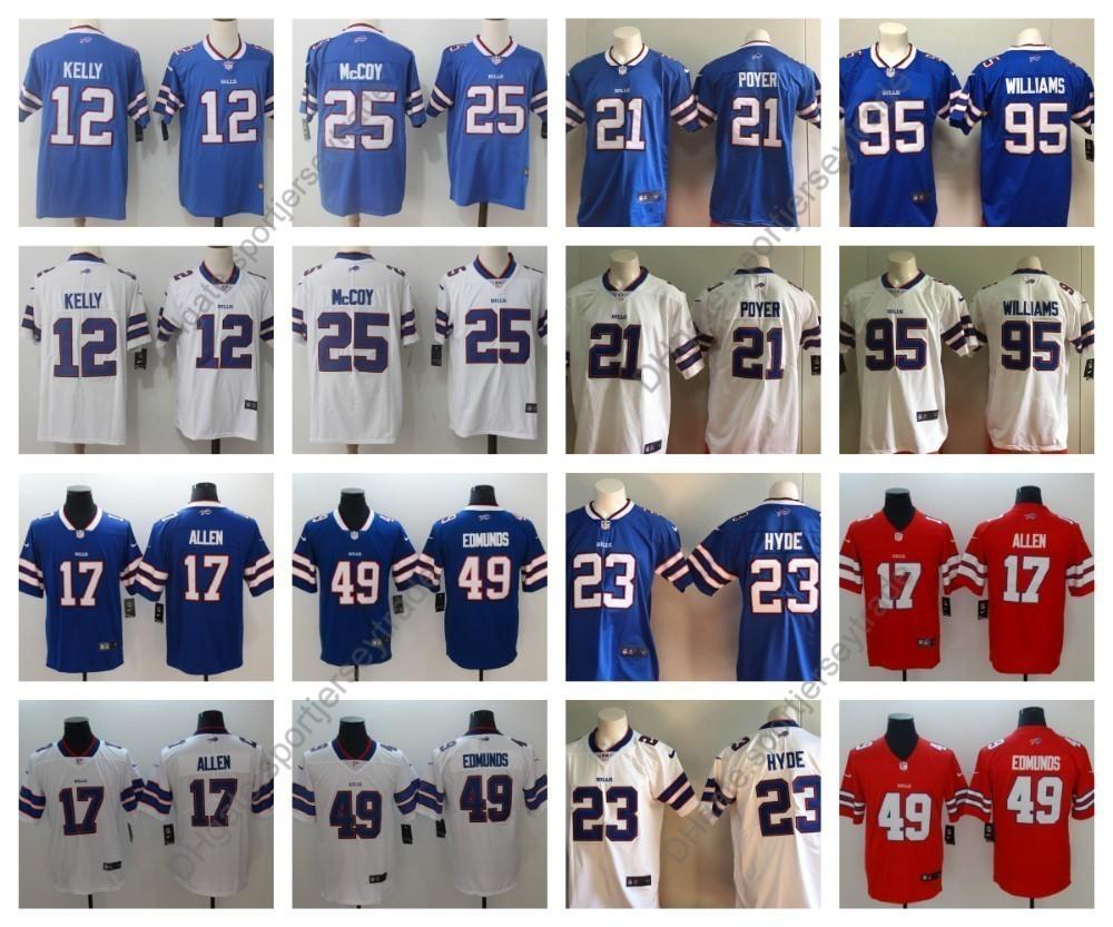 size 40 3d4c1 6a625 2019 Buffalo Mens 12 Bills Jim Kelly Football Jersey 25 LeSean McCoy 21  Poyer 95 Kyle Williams 23 Micah Hyde Vapor Untouchable Top Quality
