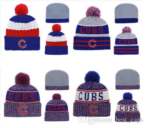 524f9b7d46c 2019 Wholesale Hot Sell Winter Beanie Knitted Hats CUBS Beanies Hats  Basketball Baseball Football Winter Beanies Hats 1000+ From Best caps