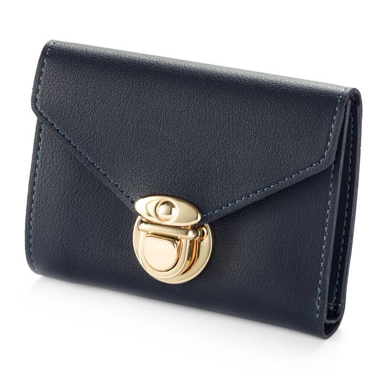 Baellerry Mini Envelope Wallet Women Leather Small Women Wallets Clutch Ladies Purse Card Holder Hasp Trifold Wallet Cuzdan W176