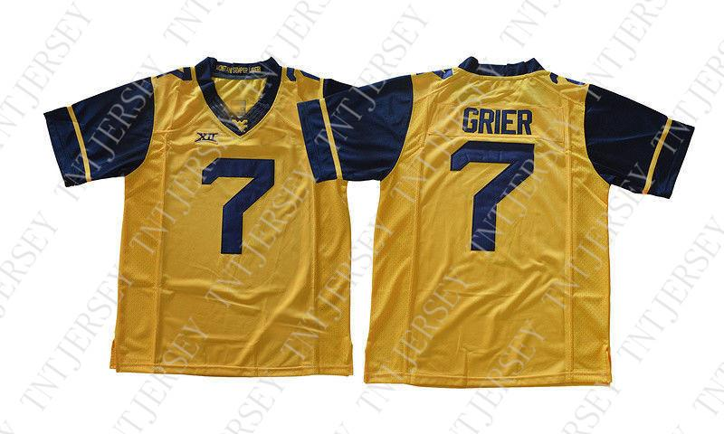 sale retailer 466ec 5a1ac Cheap custom Will Grier Jersey #7 West Virginia Mountaineers Football  Jersey Gold Stitched Customize any number name MEN WOMEN YOUTH XS-5XL