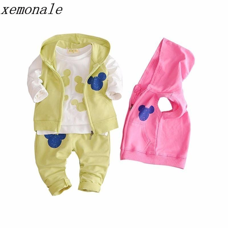 181eda3d6eb4 2019 2019 New Spring Autumn Baby Girls Clothing Kids Suits Cotton ...