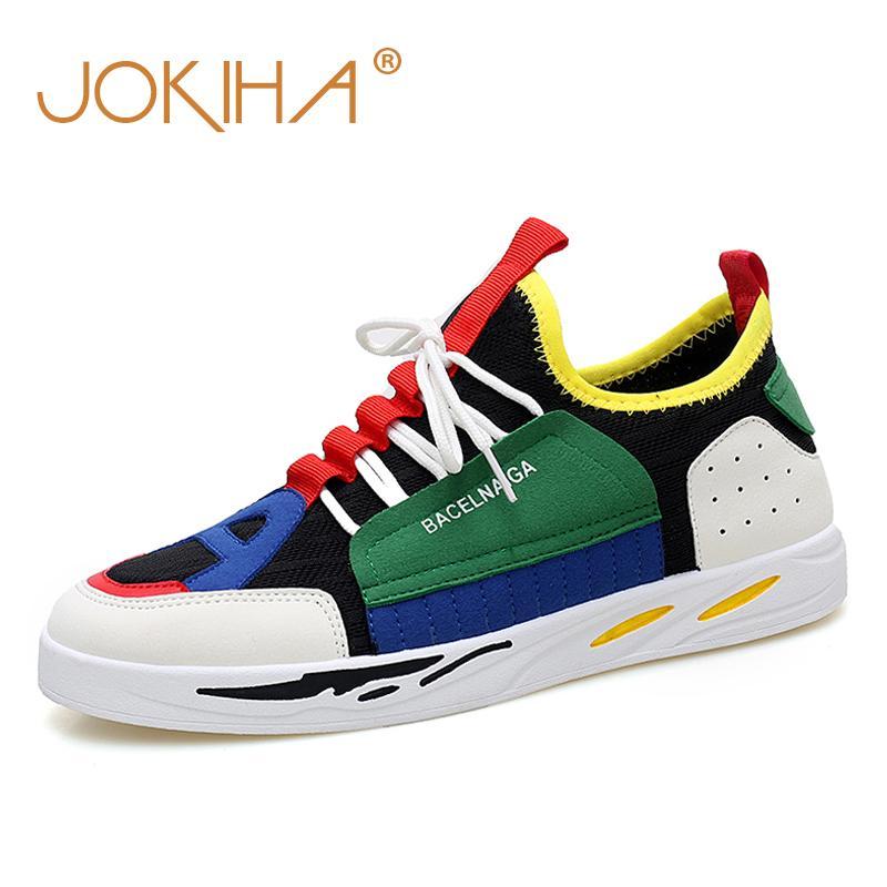 eedccedbb8a Compre 2019 Zapatillas De Deporte De Moda De Primavera Zapatos Para Hombres  Malla De Aire De Verano Diseño De Marca Transpirable Colorido Barato Venta  ...