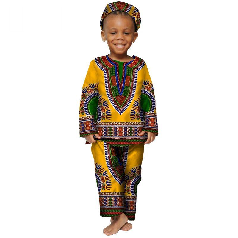 83851a66c992 2019 New Fashion Africa Children Clothing Dashiki Cute Boys Bazin ...