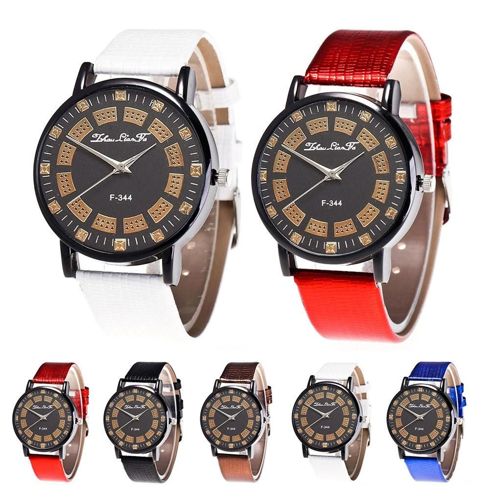 38d4a26214 Zhoulianfa Lover Women Men Quartz Analog PU Strap Jewelry Gift Watch ...