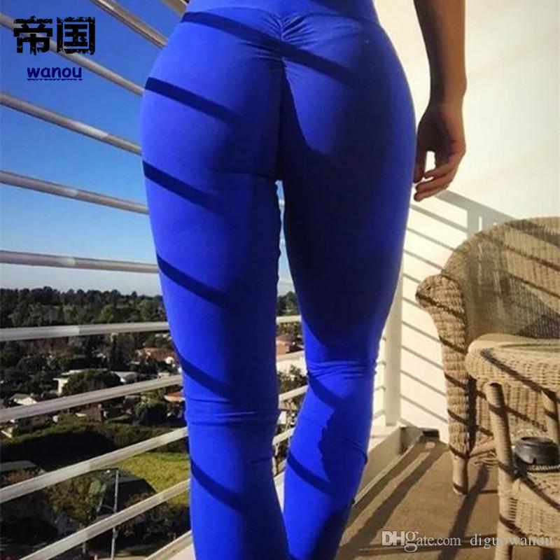 074840116b7427 2019 Hot Yoga Pants Sport Leggings Women Fitness Push Up Leggings High Waist  Elastic Tights Gym Running Yoga Pants Trousers Sexy From Diguowanou, ...