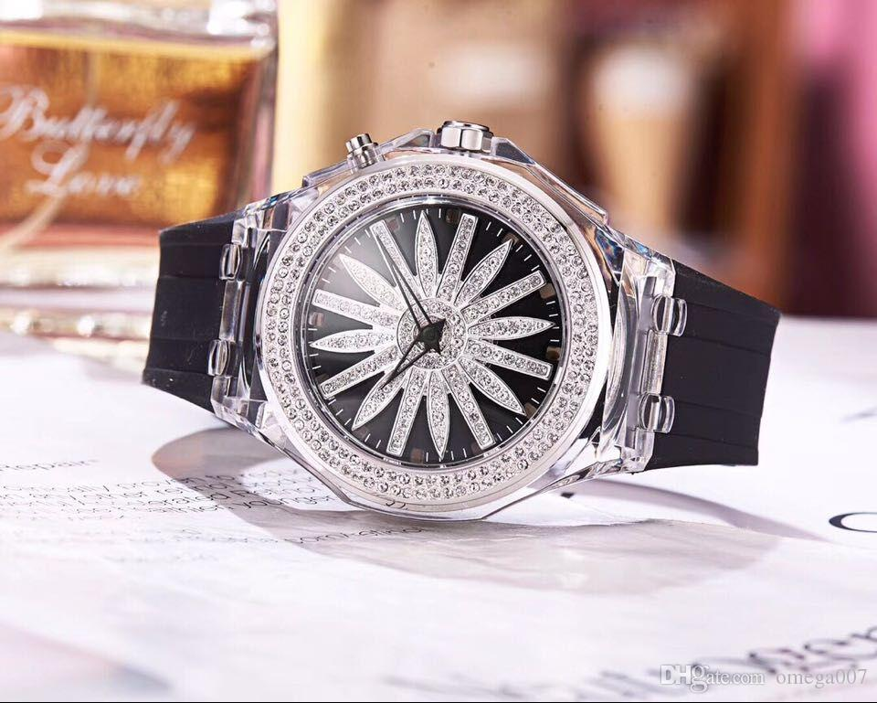 fe0773bc diamond RESIN 45MM CASE CHINA LADY QUARTZ luxury sport wholesale women  watch bnd new Stainless steel Womens watches