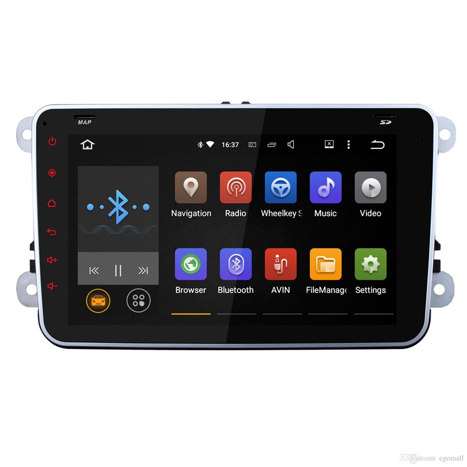 Quad Core 1024*600 2 Din Android 5.1 Car Radio Audio Car DVD Player GPS Navigation For Volkswagen VW Passat Scirocco Polo (with canbus)