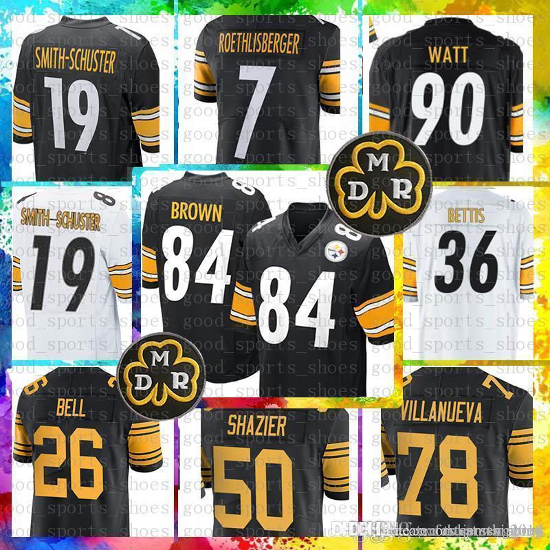 8d09aca9a 2019 84 Antonio Brown Pittsburgh Jersey Steelers 19 Juju Smith Schuster 90  T.J. Watt 50 Ryan Shazier 7 Ben Roethlisberger 26 Le Veon Bell From  Tukameng2016