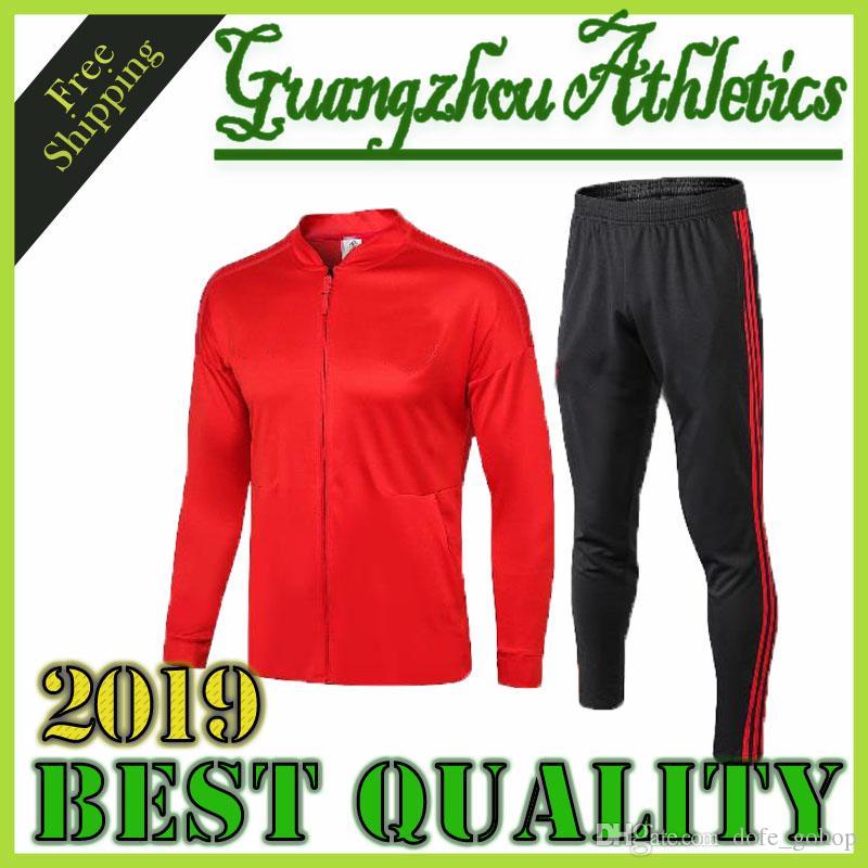 super popular cfa01 956db 2019 Soccer Jersey ALEXIS Sanchez Training suit tracksuit 19 LUKAKU POGBA  RASHFORD LINGARD training suit United football Shirts