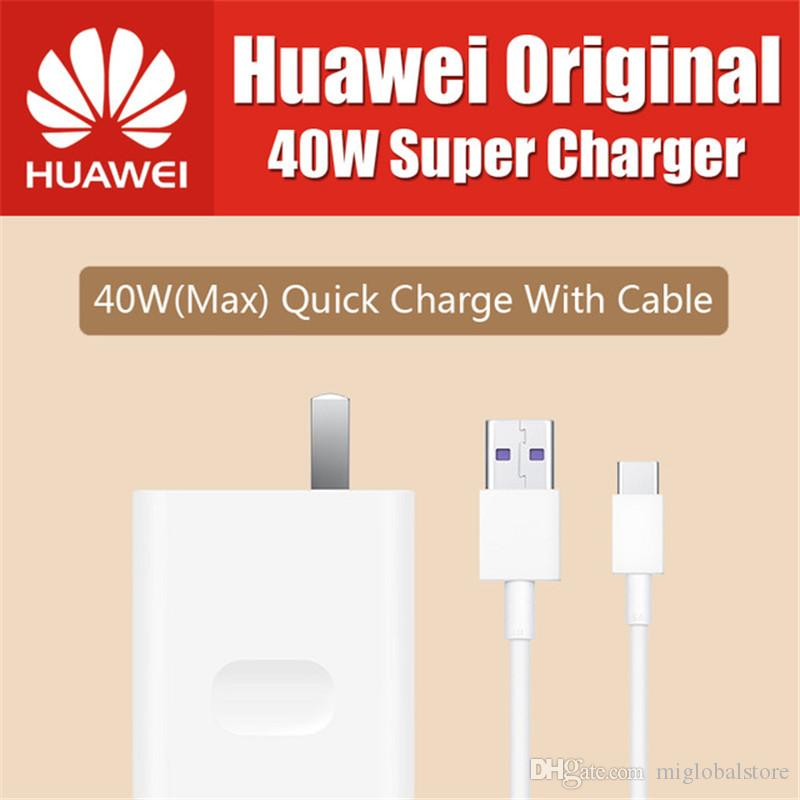 Original Huawei 40W Super Charge USB Fast Charger Type C Data Cable for  huawei p10 plus mate 20 lite p20 pro