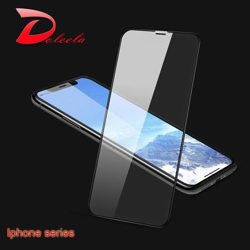 1f98fb8c08 Full Cover Tempered Glass Film For Iphone XS XR Max XS Screen Protector 8 7  6 6s X Plus Se Protection Film 9H Xs Max Screen Protector Film Tempered  Glass ...